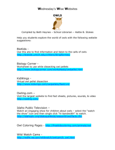 Wednesday's Wise Websites OWLS BioKids