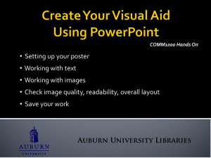 Create Your Visual Aid Using PowerPoint