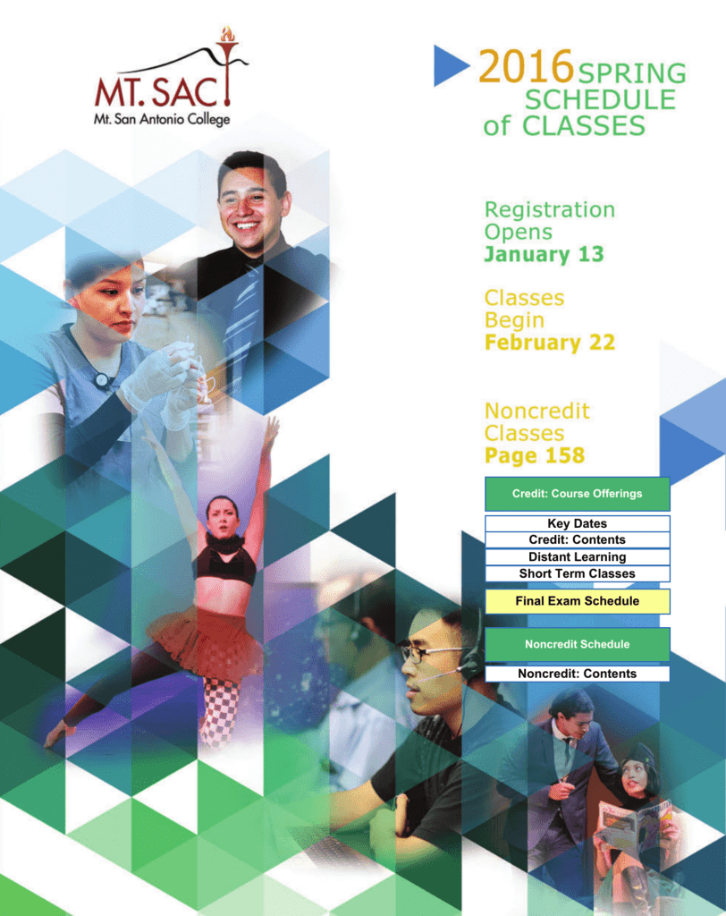 4fcc47c9d0303f Schedule of Classes