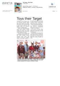 Toys their Target - UnitingCare West