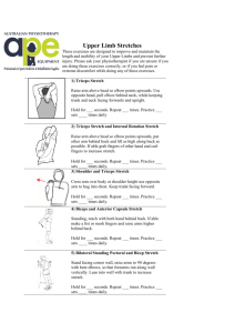 Upper Limb Stretches