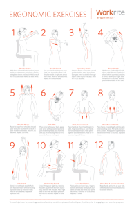 Ergonomic Exercises - Workrite Ergonomics