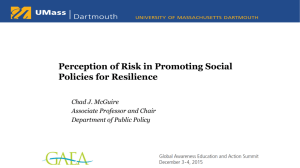 Perception of Risk in Promoting Social Policies for Resilience