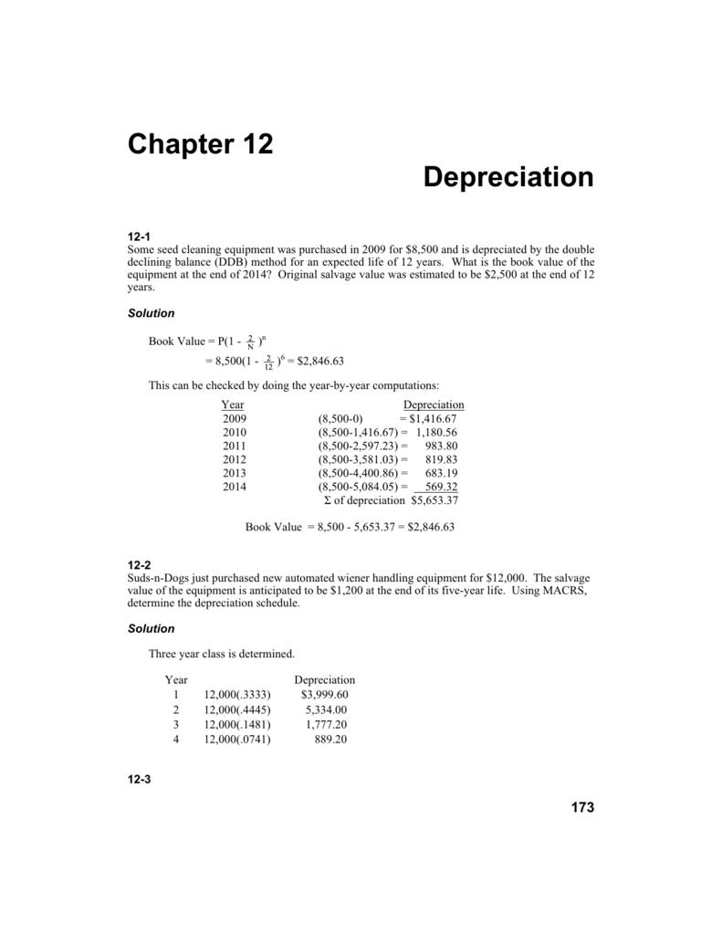 chapter 12 depreciation