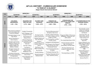 ap us history - curriculum overview