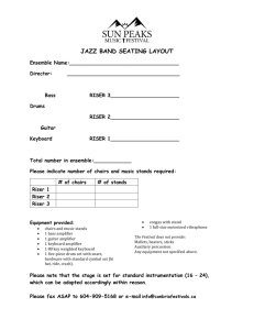 jazz band seating layout