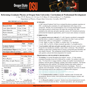 Reforming Graduate Physics at Oregon State University: Curriculum