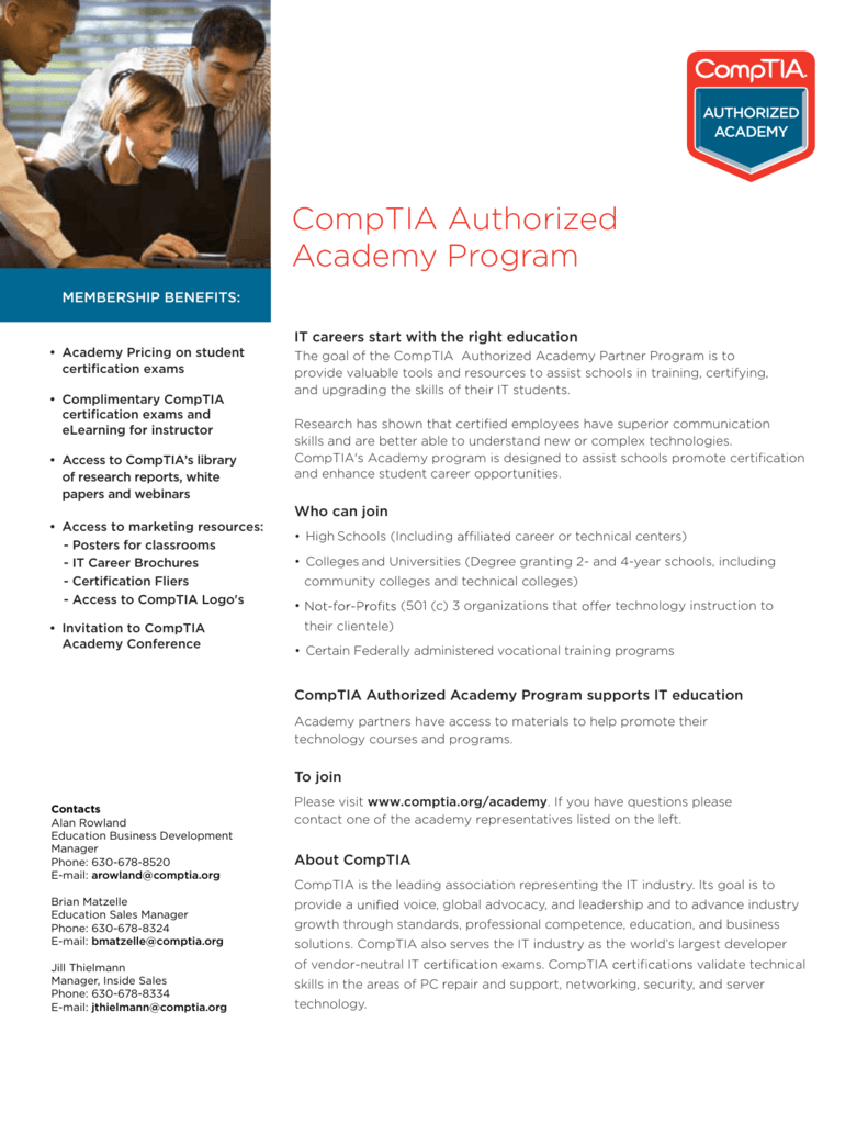 Comptia Authorized Academy Program