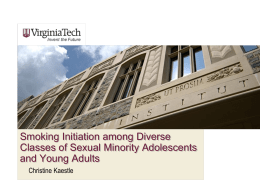 Smoking Initiation among Diverse Classes of Sexual Minority
