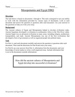 dbq mesopotamia and  mesopotamia and dbq