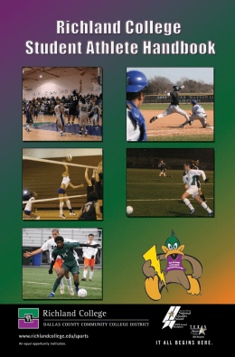 Athletic Handbook - Richland College