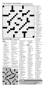 The Journal Crossword|Edited by Mike Shenk