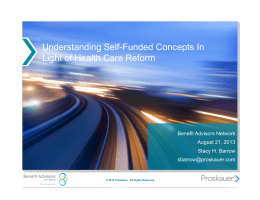 Understanding Self-Funded Concepts In Light of Health