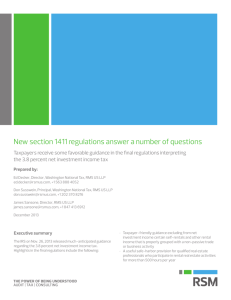 New section 1411 regulations answer a number of questions
