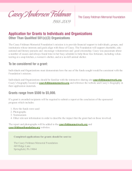 Application for Grants to Individuals & Organizations