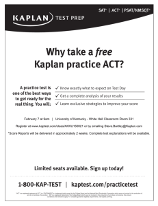 Why take a free Kaplan practice ACT?