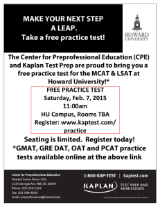 FREE Practice GRE, GMAT, LSAT, MCAT, DAT, OAT, and PCAT