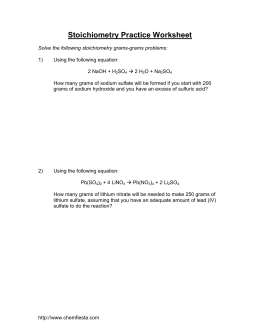 stoichiometry practice worksheet - Stoichiometry Practice Worksheet