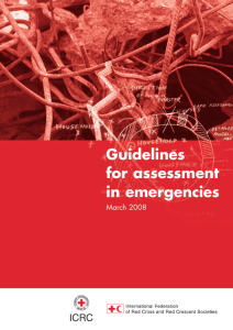 Guidelines for assessment in emergencies