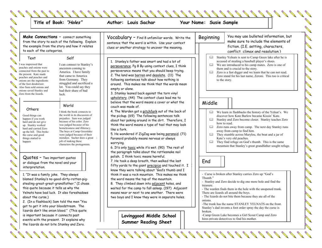One Pager Sample