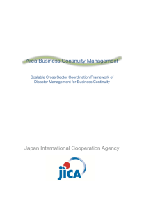 Area Business Continuity Management Japan International