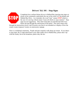 Drivers' Ed. 101 – Stop Signs