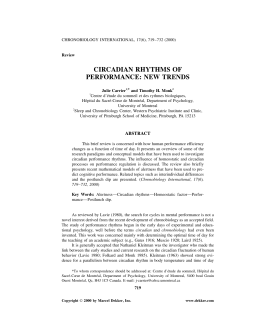 circadian rhythms of performance: new trends