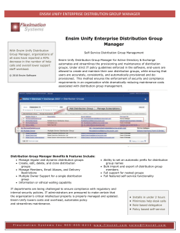 Ensim Unify Enterprise Distribution Group Manager