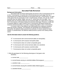 34 Sex Linked Traits Worksheet Answers - Worksheet ...