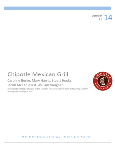 Chipotle Case Study