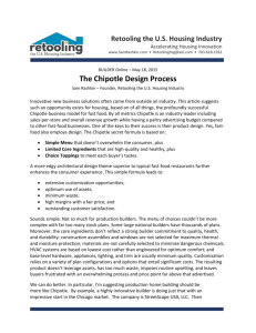 The Chipotle Design Process - Retooling the US Housing Industry