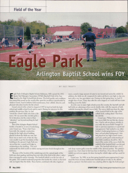 High School/Parks Baseball Field of the Year: Eagle Park: Arlington
