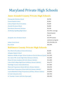 Maryland Private High Schools