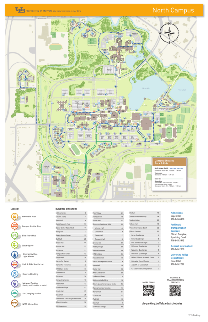 North Campus - Parking & Transportation Services on