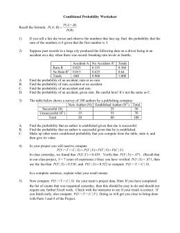 Worksheets Binomial Probability Worksheet computing binomial probabilities conditional probability worksheet