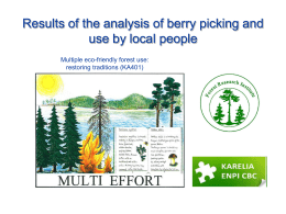Results of the analysis of berry picking and use by local people