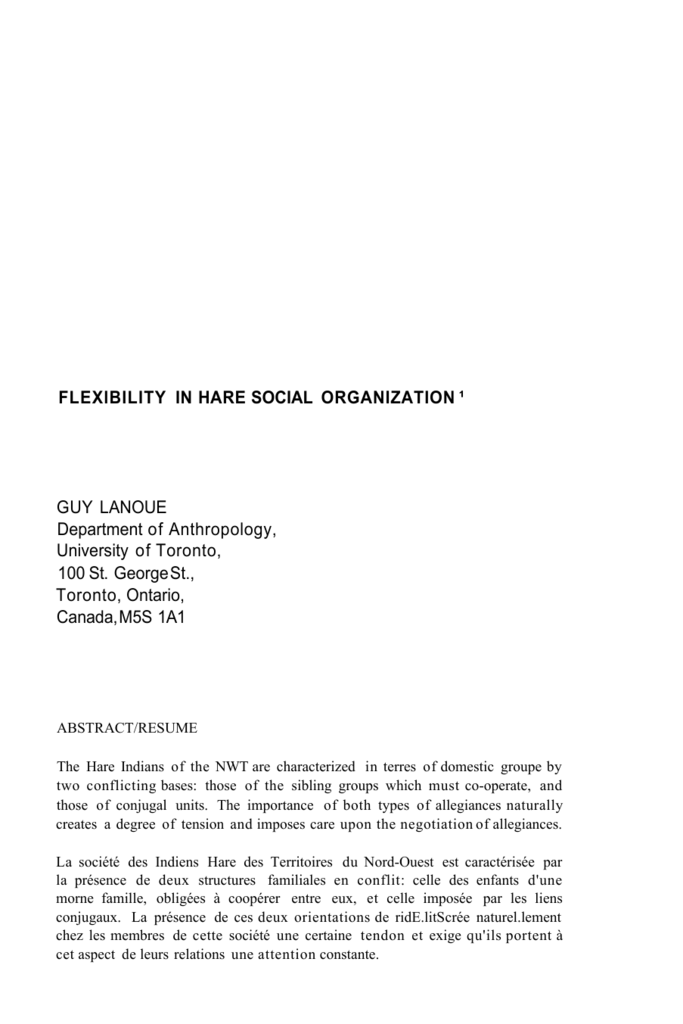 importance of social organization