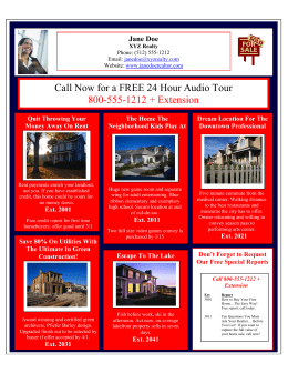 Call Now for a FREE 24 Hour Audio Tour 800-555