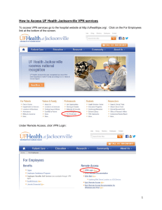 How to Access UF Health Jacksonville VPN services