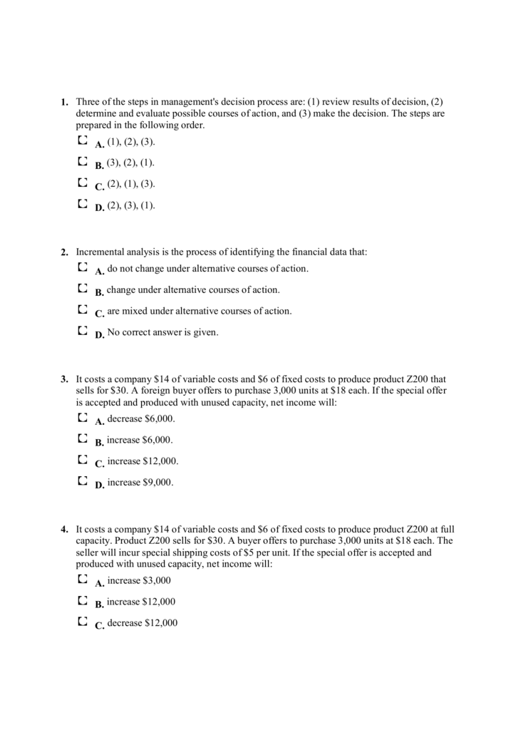 Ch 07 Incremental Analysis Q and M