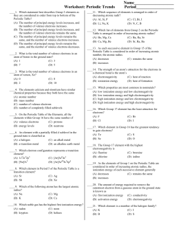Awesome Worksheet Periodic Trends Answers   Premium Worksheet besides  as well Advanced Math Recent Questions   Chegg likewise  likewise Radii Trend Periodic Table Elegant Group Trend for Ionization Energy also Name  Per        Date  Periodic Trends Study Guide Vocabulary besides  also Chapter 8 Practice Worksheet additionally  together with CH103   CHAPTER 1  Atoms and the Periodic Table   Chemistry furthermore Periodic Trends Practice Worksheet likewise  further  also Worksheet Periodic Trends Answers periodic table worksheets together with  in addition The hunt is on   Feature   Education in Chemistry. on periodic trends practice worksheet answers