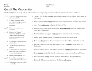 Quiz 5:The Mexican War