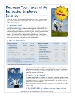 Decrease Your Taxes while Increasing Employee Salaries