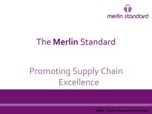 The MerlinStandard Promoting Supply Chain Excellence