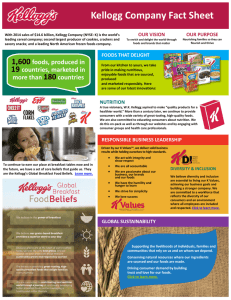 Kellogg Company Fact Sheet