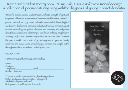 Love, Life, Loss A roller-coaster of poetry