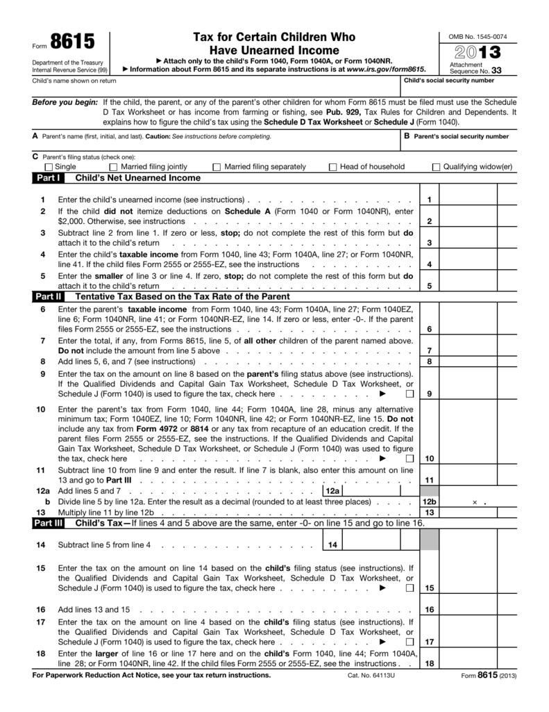 Form 8615 - Office Depot