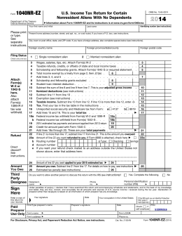 2014 Form 1040NR-EZ - About Beyond Careers