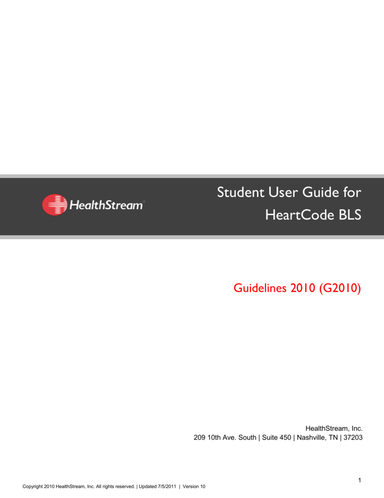 Student user guide for heartcode bls 1betcityfo Gallery
