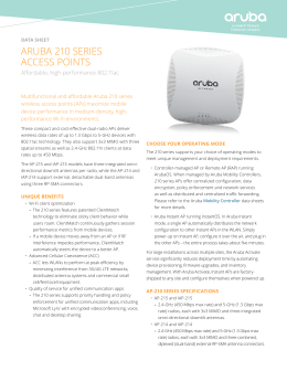 210 Series - Aruba Networks